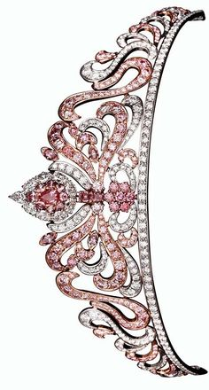Linneys' Pink Diamond Tiara, Designed by Asprey of London and set with 178 Rare Argyle Pink Diamonds totalling almost 20cts.