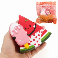 Squishy Watermelon Wearing Swimwear Holding Ice Lolly 11cm Slow Rising With Packaging Gift Decor Toy Sewing Stuffed Animals, Stuffed Toys Patterns, Sewing Toys, Sewing Crafts, Cute Squishies, Cute Polymer Clay, Toy Organization, Toy Craft, Fidget Toys