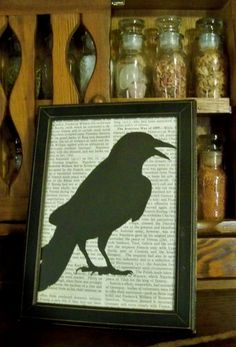 Raven  Gothic Home Dec by LiveDarkly on Etsy