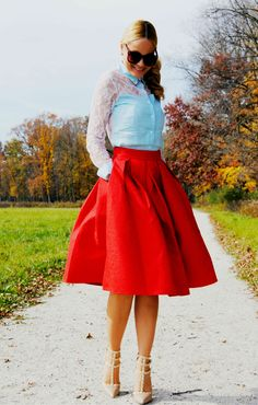 Fashion Structured Pleated Skirt