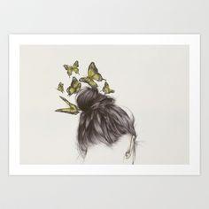 Hair II Art Print by The White Deer - $20.80