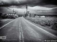 Small Town - Pinned by Mak Khalaf Shot in Advocate Harbor Nova Scotia (Bay of Fundy) Black and White CanadaNova Scotiablack and whitebulldingscloudsmonochromeroadskystreettraveltowhn by bobkolesar