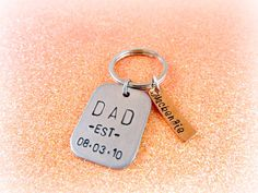 Personalized Dad Keychain  Hand Stamped by EverythingPrettyShop, $20.00