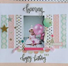 Birthday Scrapbook Pages | Scrapbooking Ideas | 12X12 Layout | Creative Scrapbooker Magazine #12X12layout #scrapbooking #birthday