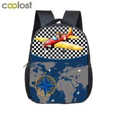 0659c66504b5 12 inch Kids Racing Car Small School Bags Child cartoon Backpacks Boys  Girls Toddler Bags Children