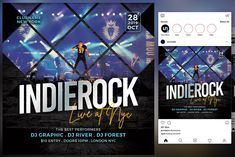 Indie Rock Flyer by KiraYamato Design Studio on Concert Flyer, Model Photos, Flyers, Indie, Social Media, Rock, Studio, Design, Model Headshots