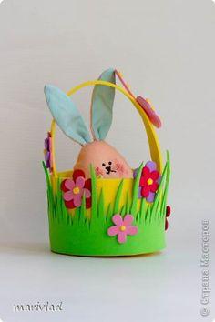 Мастер-класс Пасха Моделирование конструирование Пасхальная корзинка из фоамирана Фоамиран фом фото 16 Paper Crafts For Kids, Diy Home Crafts, Christmas Crafts For Kids, Felt Crafts, Easter Crafts, Arts And Crafts, Happy Easter, Easter Bunny, Easter Illustration