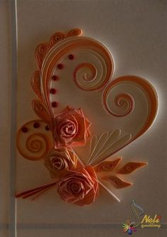 neli: Quilling cards - With love...- 4