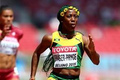 Shelly-Ann Fraser-Pryce, of Jamaica, in the women's 100m heats during day two of the  IAAF World Championships, Beijing 2015 at Beijing National Stadium on August 23, 2015  (Getty Images)