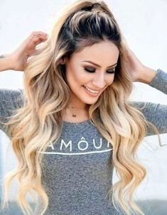 Fast and easy hairstyles for long, thick hair # thin hair . Fast and easy hairstyles for long, thick hair it Yourself hair open Gallery Ideas] Thick Curly Hair, Curly Hair Styles, Long Curly, Thick Long Hair Styles, Thin Hair, Lose Curls Long Hair, Long Hair Ponytail Styles, Short Wavy, Long Layered