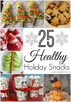 25 Healthy Holiday Snacks for Christmas by mattie