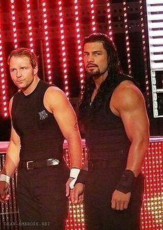Roman and Dean: Look at their arms! Damn!