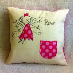 Personalised Small Tooth Fairy Cushion by RaspberryButton on Etsy