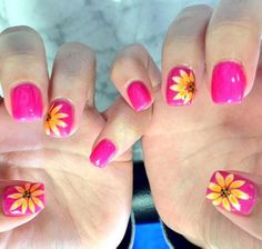 Summer Sunflowers... Love it! Hot pink and sunflowers! My favorite ;D