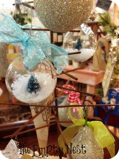 The Empty Nest: ~ The Empty Nest winter window~Chalk Paint™~German Glass Glitter~Miss Mustard Seed Milk Paint~Antique sheet music~an Apprentice~ and More~