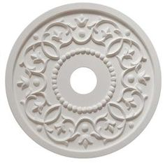 Marie Ricci Collection MRC Collection 18 in. x 18 in. Round Vine Lightweight Resin Primed White Ceiling Medallion - The Home Depot Roof Ceiling, White Ceiling, Ceiling Tiles, Ceiling Design, Ceiling Rose, Ceiling Fan, Baby Nursery Furniture, Nursery Room Decor, Ceiling Medallions