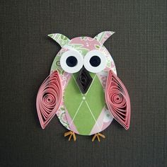 adorable owl for quilling