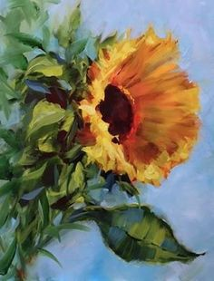 Fall Glow Sunflower, 16X12, oil - Nancy Medina