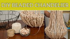 DIY Home Decor: Beaded Chandelier. Get your beads at www.fizzypops.com. We have a huge selection and we offer bulk discounts!