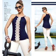 from Disponibles ebba high summer Casual Bar Outfits, Diy Summer Clothes, Stylish Blouse Design, Couture Tops, Denim Top, Trendy Tops, Star Fashion, Blouse Designs, Fashion Dresses