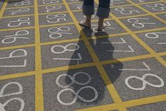 20+ Things to Do with a Hundred Chart- and I love the idea of a 100 chart on the playground, like this picture!