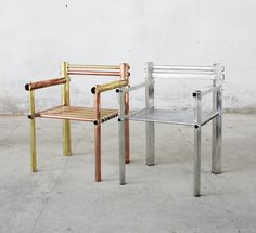 Max Lamb Metalware chairs