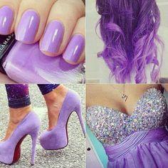 purple formal dress style