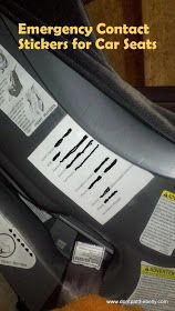 The Homestead Survival: Car Seat Emergency Information Sticker For A Child Too Young To Speak