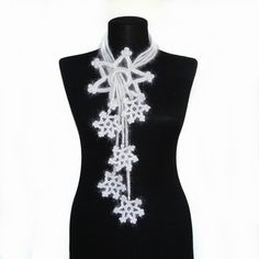 Handmade snowflake scarf