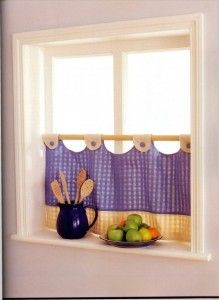Allows privacy with light. Cottage Curtains, Farmhouse Curtains, Kitchen Curtains, Curtain Patterns, Curtain Designs, Rideaux Design, Homemade Curtains, Window Dressings, Do It Yourself