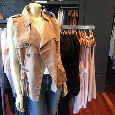 The new summer essential = sleeveless trench @bananarepublic #trench #jacket #summer #fashion #bananarepublic #Pixxy