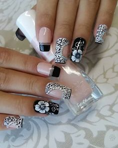 French Manicure Acrylic Nails, Cute Acrylic Nails, Cute Nails, Pretty Nails, My Nails, French Nails, Fabulous Nails, Perfect Nails, Gorgeous Nails