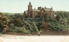 0226 Meltham Convalescent Home on Meal Hill, south east of Meltham. Opened in 1868, it closed in the mid-1940s. It then became a school from the 1950s to the 1990s and then became a residential property called The Woodlands.
