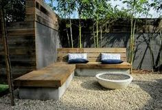 Backyard built in seating (Outdoor Wood Seating)