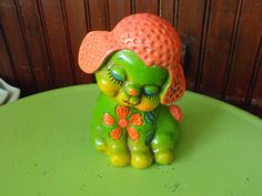 Vintage Norleans Lamb Chalkware Bank FUN and Groovey Colors by peacenluv72 on Etsy