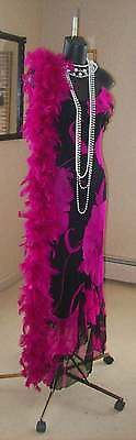 ROARING 20s GREAT GATSBY FLAPPER STYLE DRESS S FREE BOA AND FREE HEADPIECE