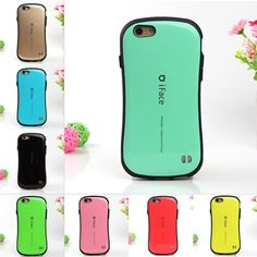 #AliExpress iFace Case Candy Color Style Shock Absorbing Cover Bag For Apple Silicone PC Hard Case for iPhone 6 6s 4.7 7 Plus 5.5 5 5s SE (32663207813) #SuperDeals