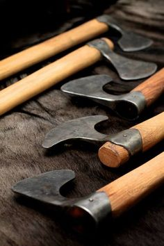 MONDAY tools paganroots: Hand axes by Wieland Forge