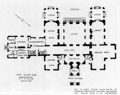 Floor plan of the Crocker Mansion, Hillsboro
