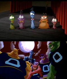 The Monstars...just a lesson for you never pick on small people, You never know what they might become lol :)