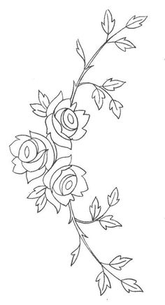 digitize for a sleeve or a pants leg Hand Embroidery Design Patterns, Embroidery Flowers Pattern, Hand Embroidery Patterns, Ribbon Embroidery, Embroidery Art, Machine Embroidery Designs, Embroidery Stitches, Coloring Books, Coloring Pages