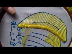 Let's learn embroidery: Kamal kadai which originated in In Hand Embroidery Videos, Hand Embroidery Flowers, Hand Embroidery Tutorial, Learn Embroidery, Hand Embroidery Stitches, Hand Embroidery Designs, Embroidery Techniques, Ribbon Embroidery, Cross Stitch Embroidery