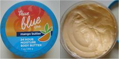 Refreshing and fruity mango butter for summer, doesn't that sound exciting? the true blue spa from Bath & Body Works Middle East is one of the best ranges ever. Read the full review and read this:  http://makeupandbeauty.com/bath-and-body-works-true-blue-spa-mango-butter-24-hour-moisture-body-butter-review/