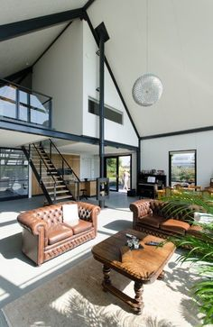 houses : Lofthome UK Ltd Modern Barn House, Modern Loft, Modern House Plans, Modern House Design, Loft Design, Deco Design, Barn House Conversion, Loft House, New Home Designs