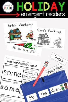 Looking for festive holiday emergent readers to help students build a strong foundation of reading skills? This holiday-themed books is for you! They're a perfect addition to your Pre-K or Kindergarten class lesson plans! Speaking of lesson planning, these emergent readers are the perfect teacher resource to make holiday lesson planning so much easier! Guided Reading Activities, Sight Word Activities, Literacy Activities, First Grade Classroom, Kindergarten Reading, Reading Skills, Writing Skills, Holiday Activities For Kids, Reading Comprehension Strategies