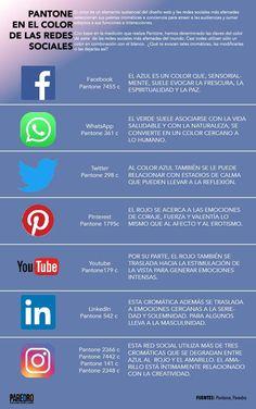 f84bbcb86b4 Infografía  Pantone en las redes sociales más populares