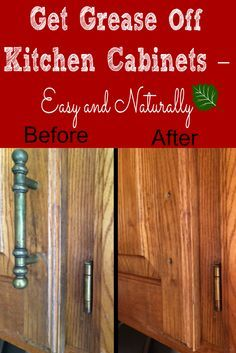 Best Natural Ways For Cleaning Wood Cabinets Homemaking Tips - How to clean grease off kitchen cabinets