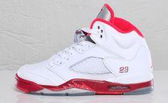 Air Jordan 5 GS White/Legacy Red
