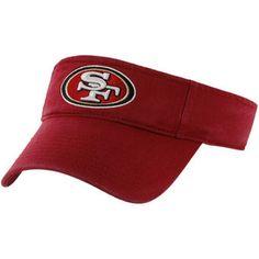 '47 Brand San Francisco 49ers Clean Up Adjustable Visor - Scarlet