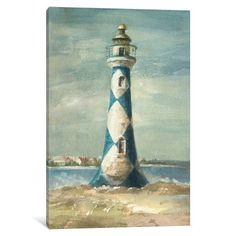 iCanvas Lighthouse IV Gallery Wrapped Canvas Art Print by Danhui Nai